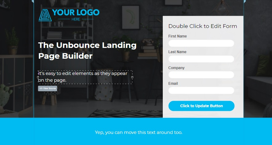 ppc tool unbounce landing pages